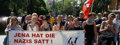 Antifa-Demo in Jena / 18.08.2007